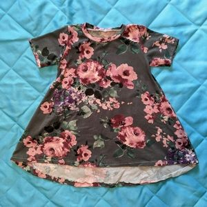 12-18 month gray and pink floral Dress